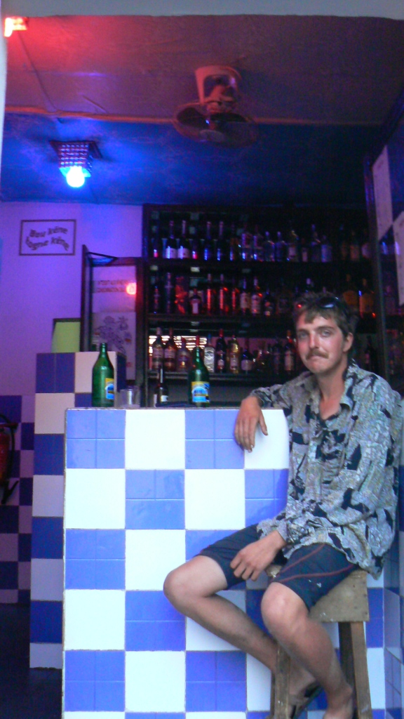 We reached Dakar, where this tiny bar became our haunt. For Edinburgh people, this  place is the equivalent of Burlington Berties!