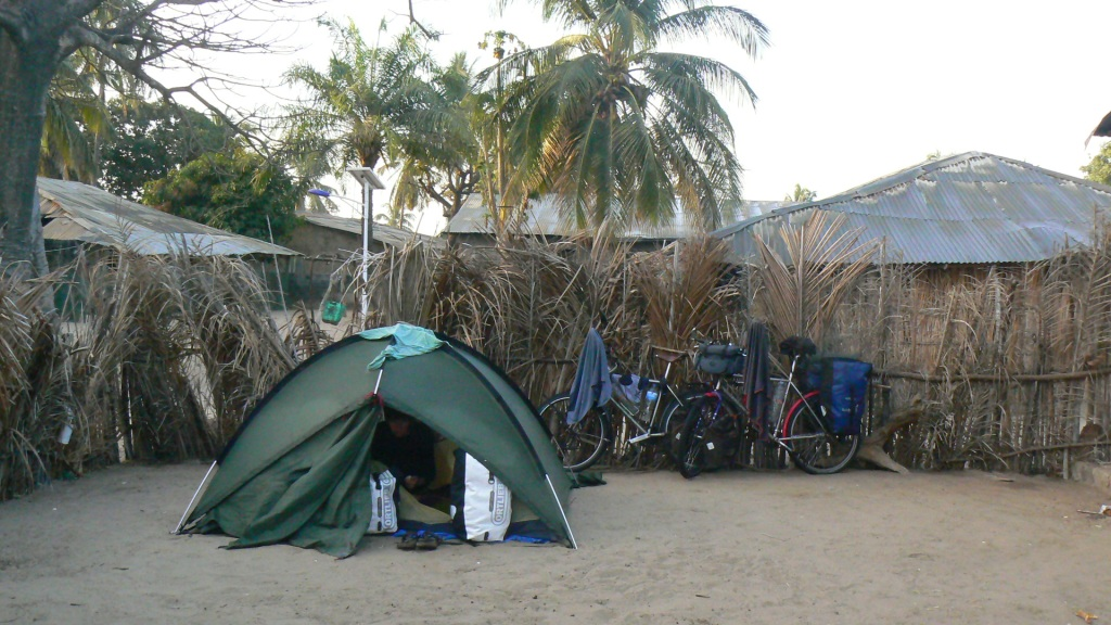Camping in a family compound in the tiny and (according to our map) non-existent village of Saloulou, somewhere on an island in Casamance.