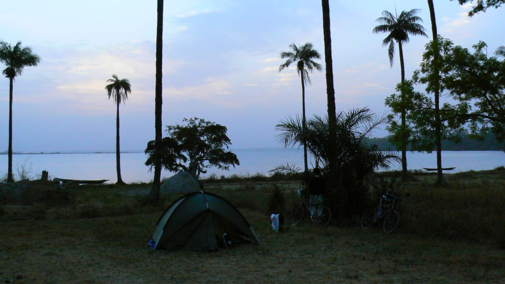 A peaceful night's camping by the river Casamance.