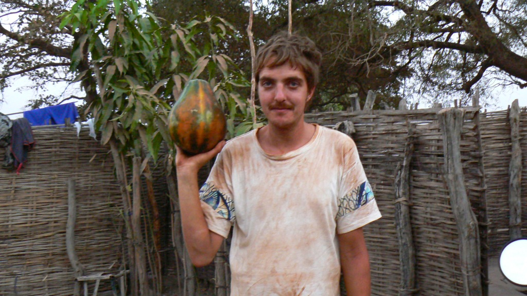 A large papaya.
