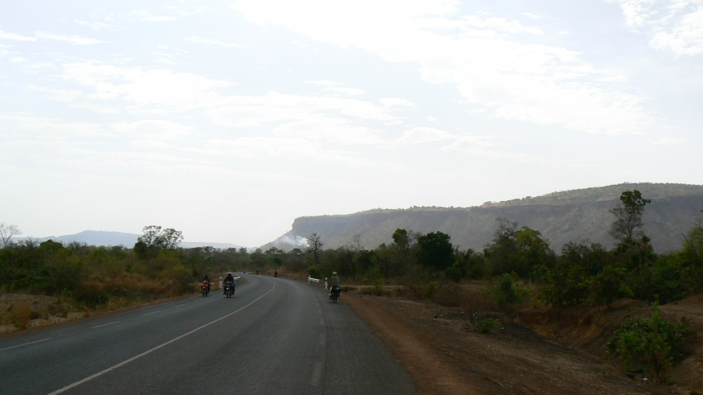 Misty cliffs in the Manding highlands as we entered southeast Mali